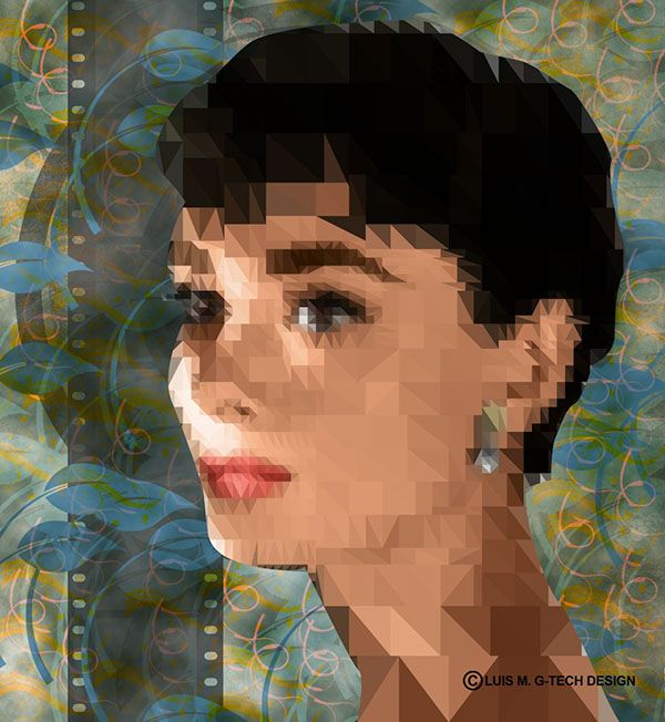 audreyhepburn-polygon-art