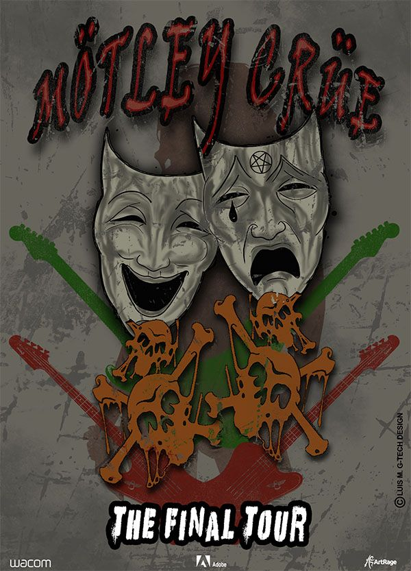 motley-crue-poster-tattoo-style-grunge
